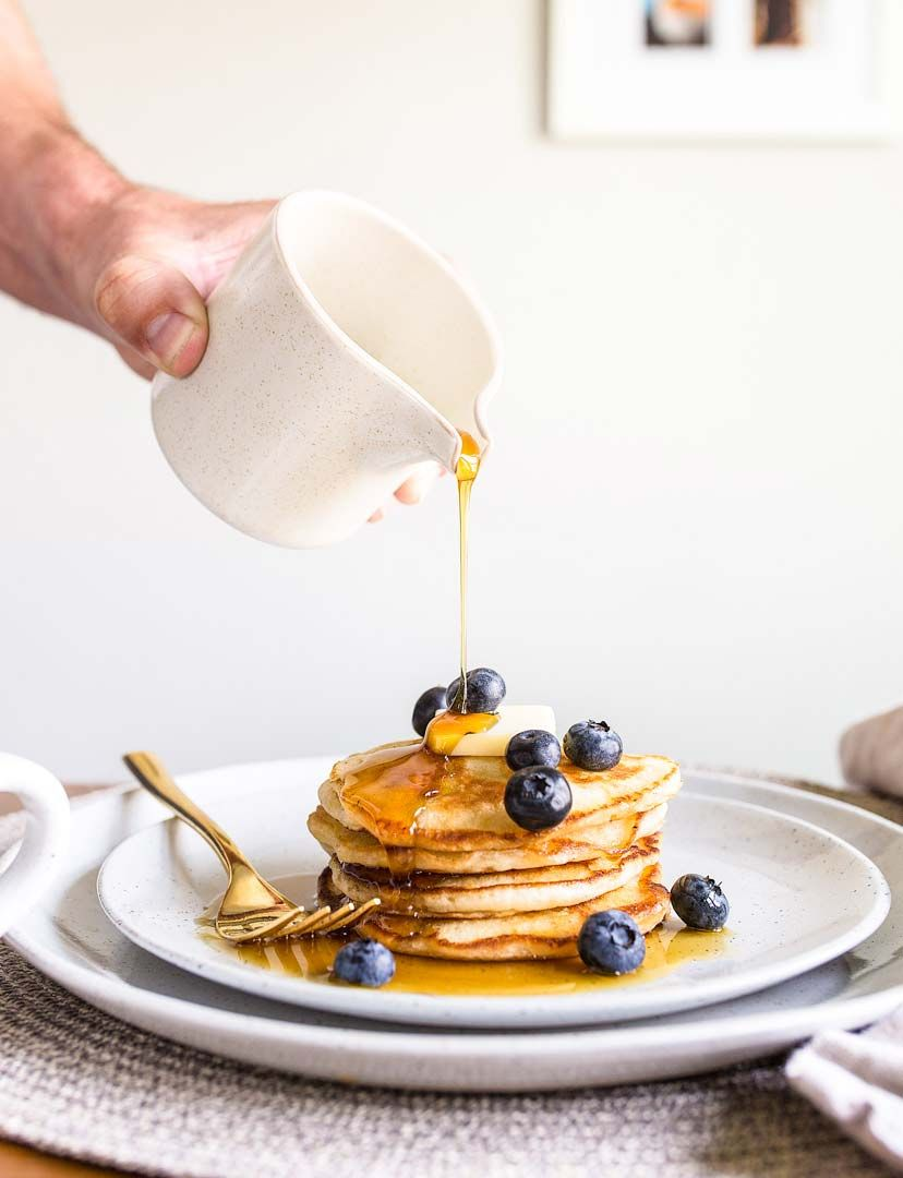 Pancakes For Two A Small Batch Of Pancakes For One Or Two People Perfect Buttermilk Pancakes Rec In 2020 Pancakes For Two Pancakes For One Pancake Recipe Buttermilk