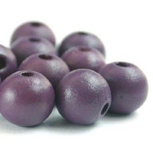 16 mm Purple Wood Beads - DiMarca Online