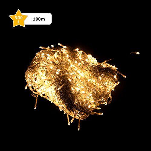 GlobaLink LED 100M 500er Kupferdraht Lichterketten mit Beleuchtung - Schlafzimmer Lampe Led