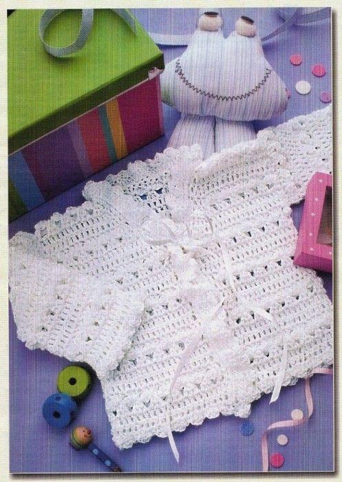 Stupendo Golfino Per Neonati Giovanna Crochet Bébé Layette Bébé