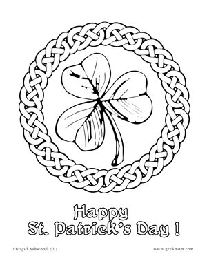 printable fun shamrocks coloring pages - Printable Shamrock Coloring Pages