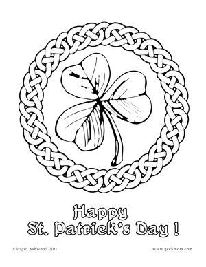 Saint Pattys Shamrock Black White Line Coloring Colouring Flower Svg Scalable Vector Gra St Patricks Day Crafts For Kids Shamrock Template St Patricks Crafts