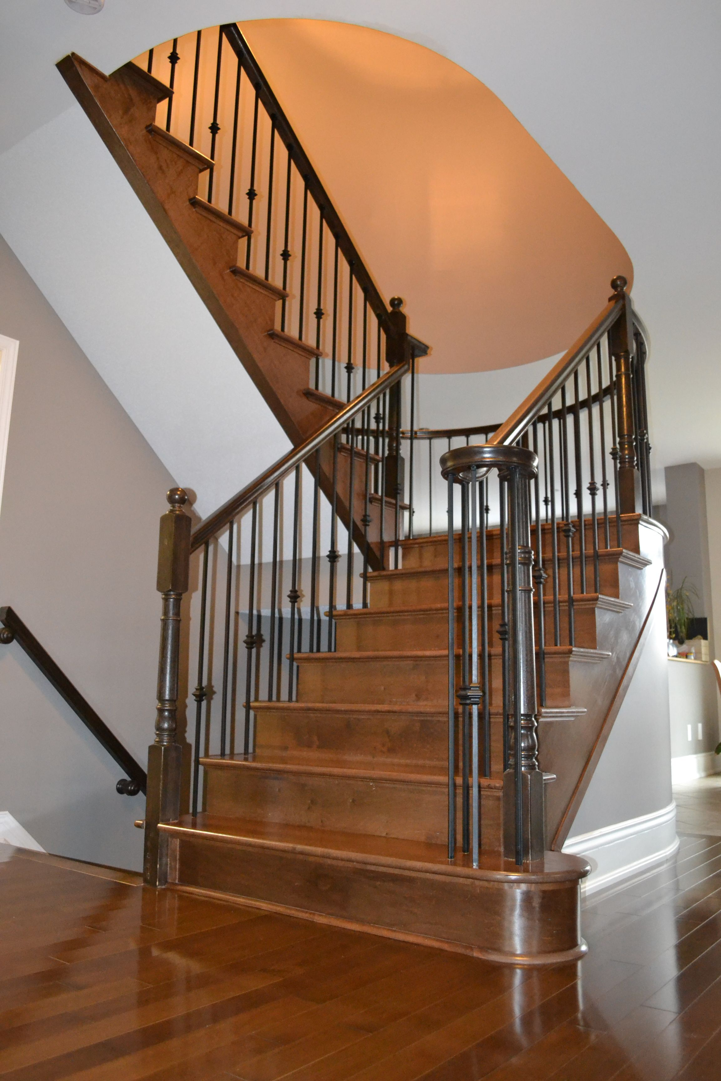 Wood and Wrought Iron Staircases Durowood Flooring