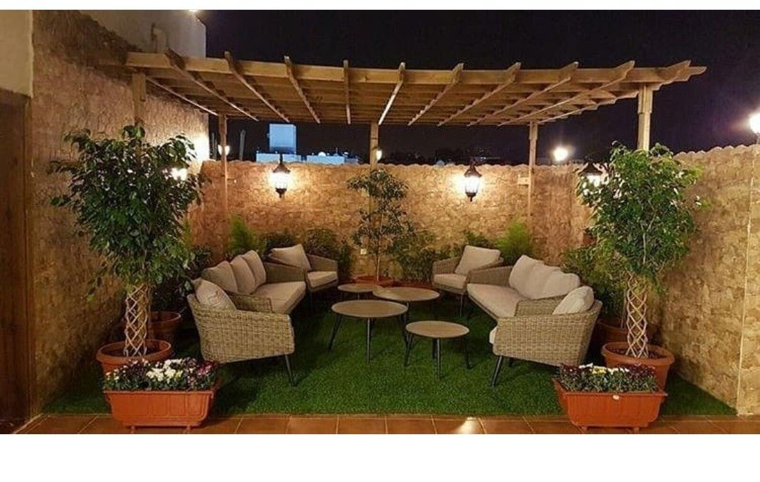 استغلال سطح المنزل Roof Garden Design House Paint Exterior Backyard Patio Designs