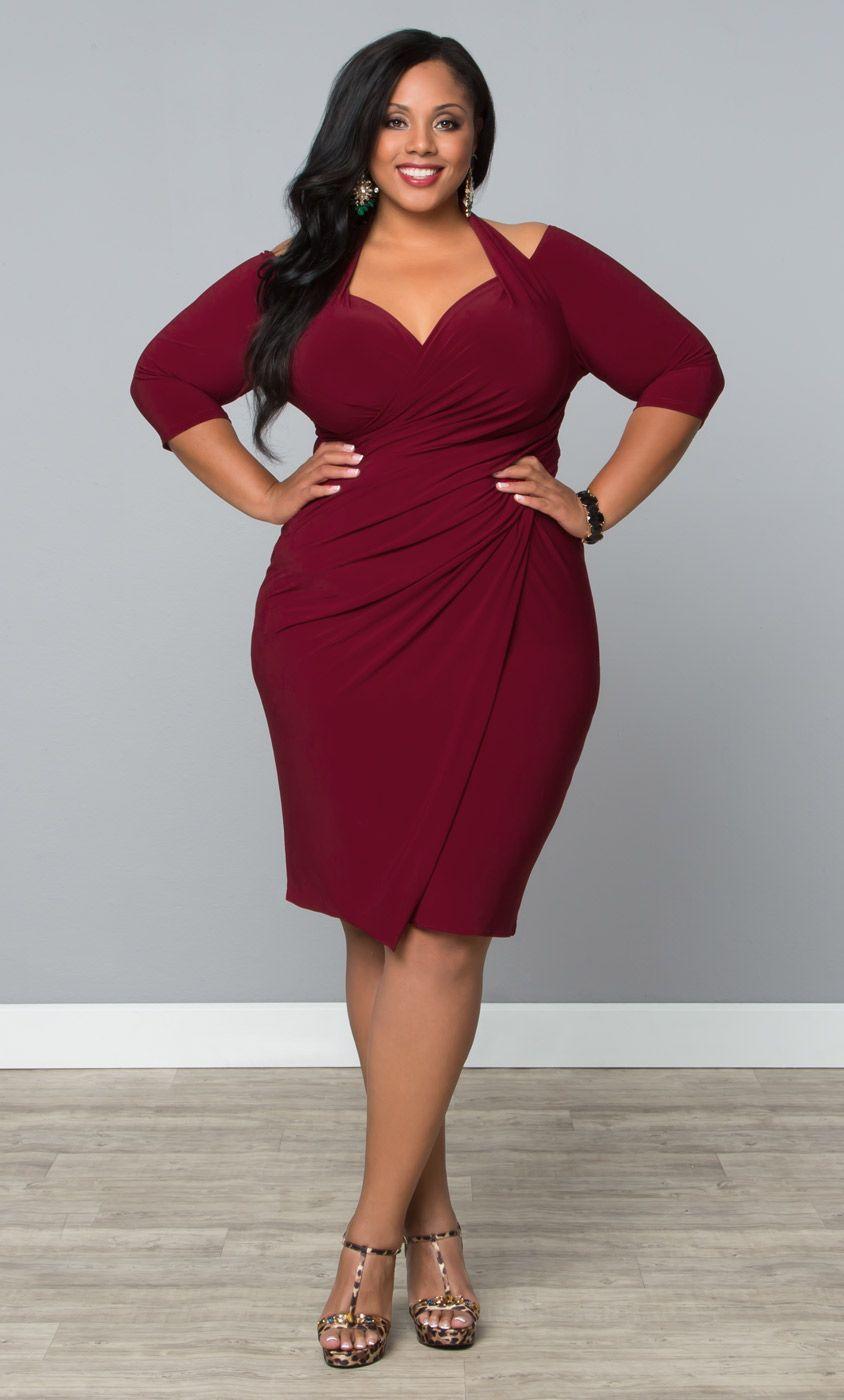 Foxfire Faux Wrap Dress | Plus Size Cocktail & Party Dresses ...