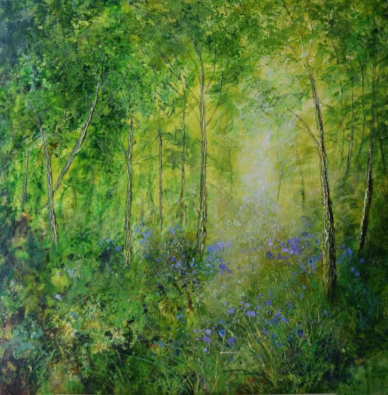 Forest in Spring by Colette Baumback