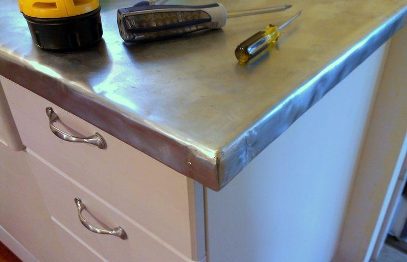zinc countertop corner (2) | haven kitchen | pinterest