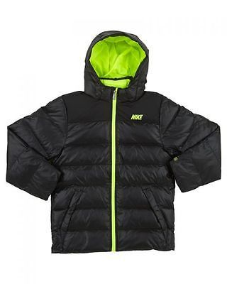 Psicológico Escepticismo Fielmente  Nike Alliance 550 Black Down Hooded Boys Winter Jacket 546190-010 ...