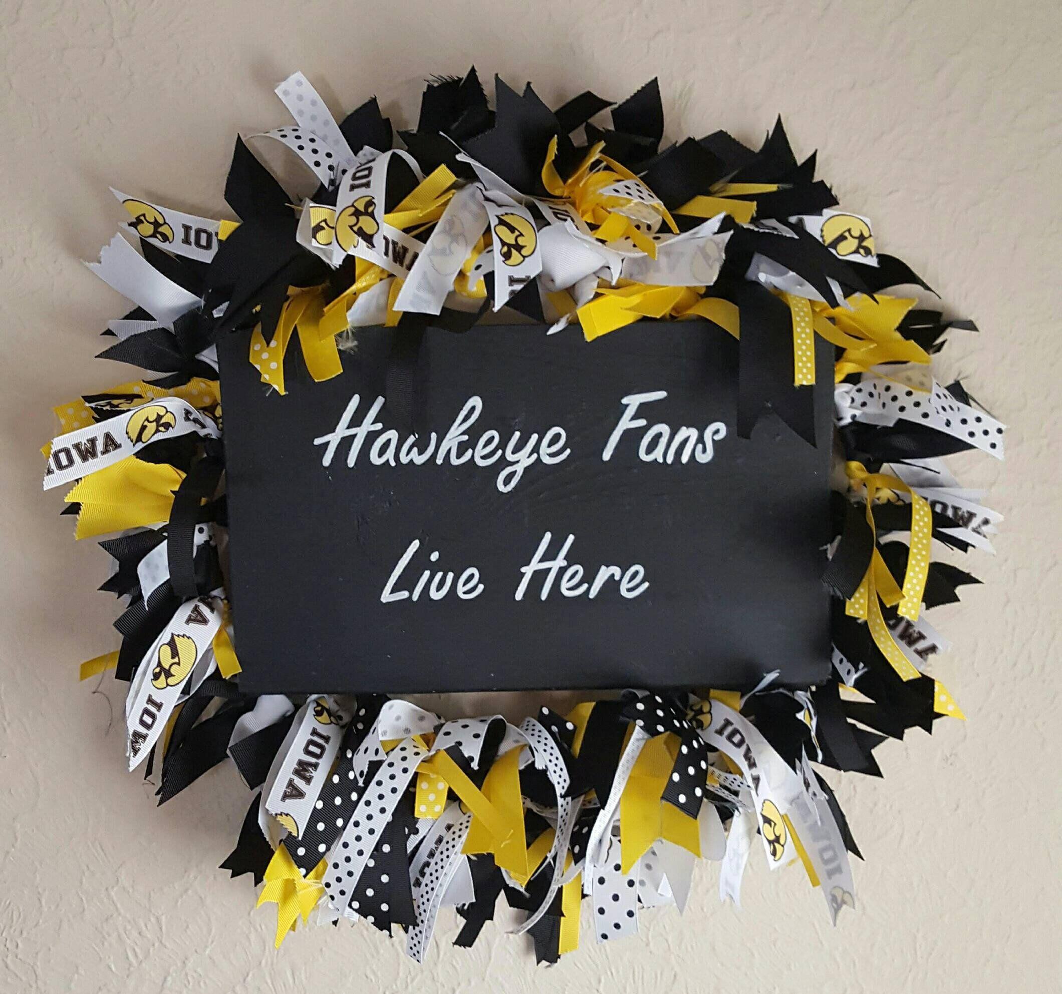 Iowa Hawkeyes Ribbon Wall Decor Wreath | Iowa and Products