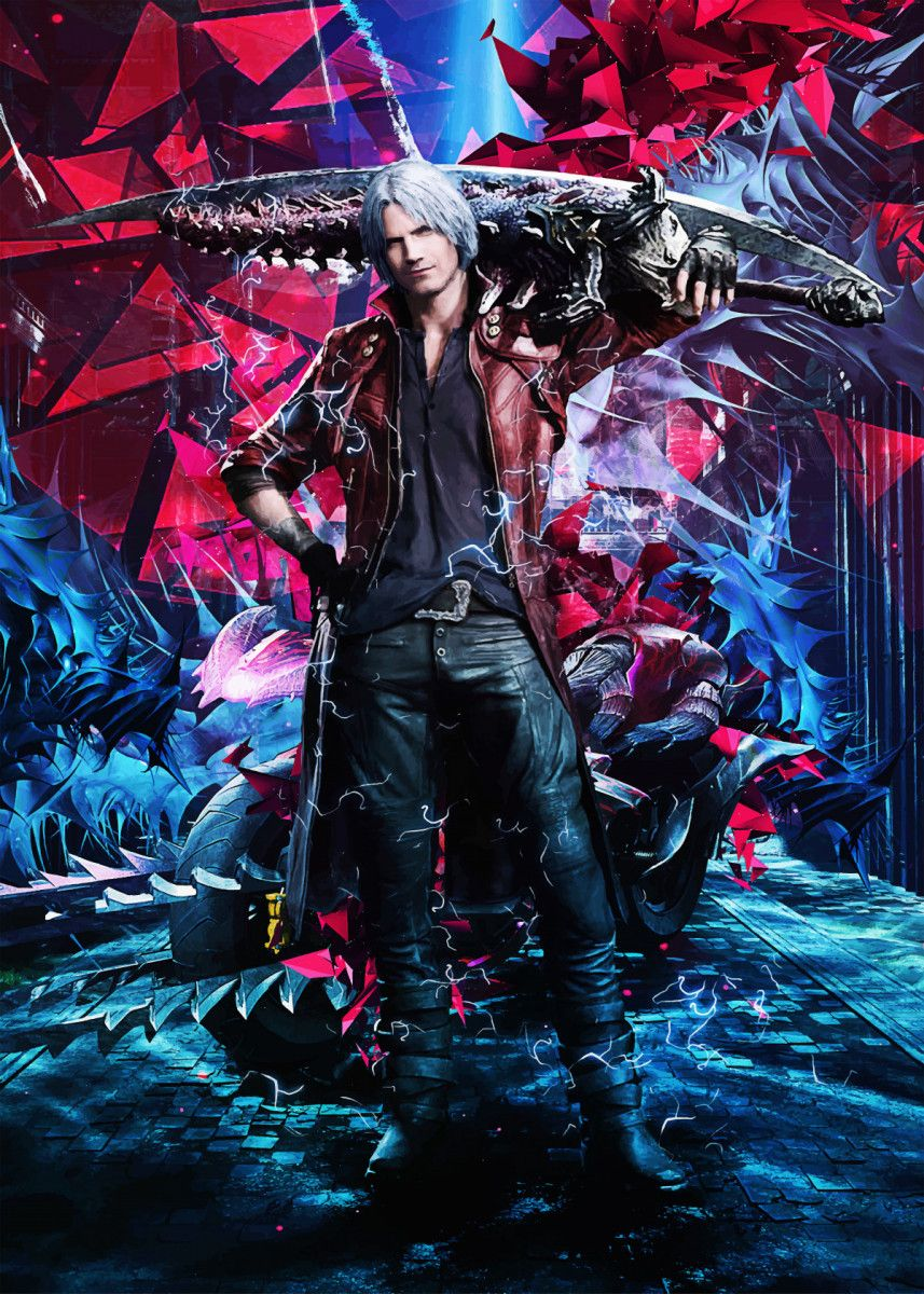 Devil May Cry 5 metal poster | Displate thumbnail