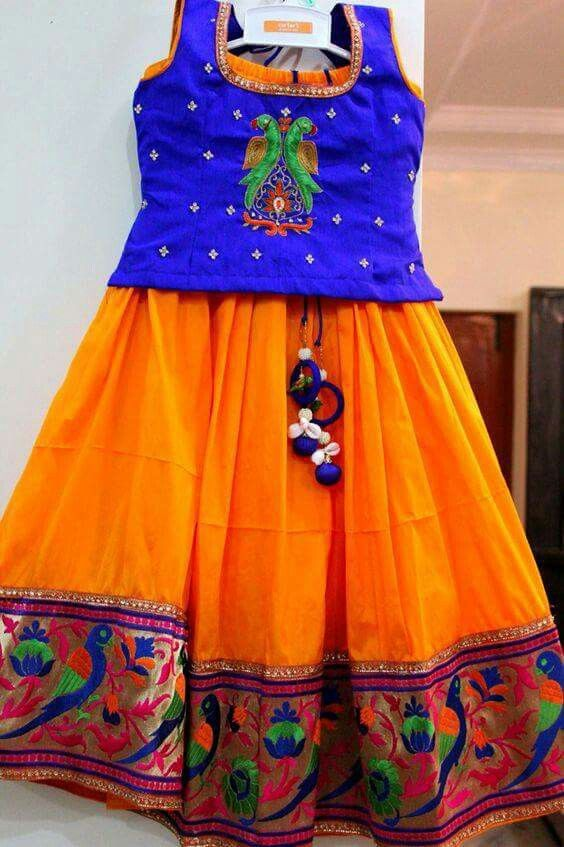 cacfe58a3e6 Langa blouse | new langa | Kids blouse designs, Kids dress wear ...