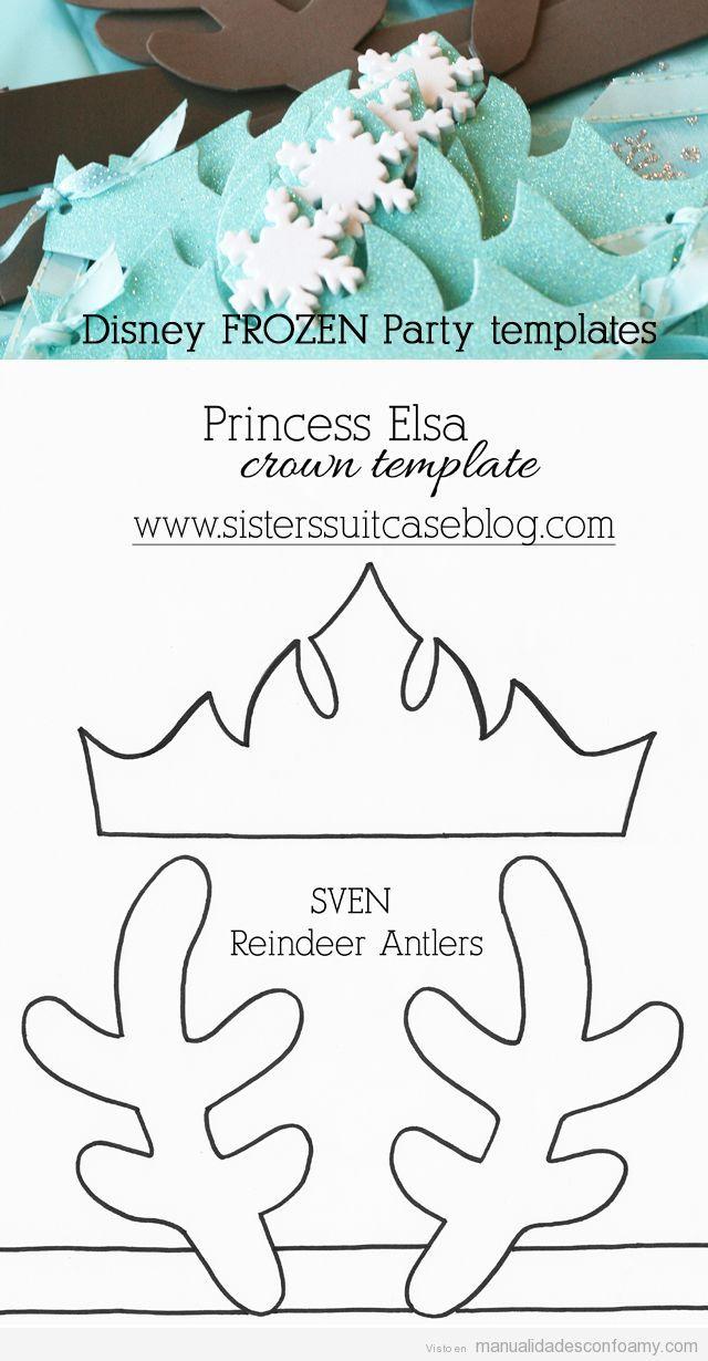 Patrones gratis Corona Elsa Frozen y Sven foamy 2 … | Pinteres…