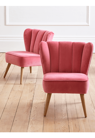NEW Westbury Velvet Chair - Desert Rose - Westbury Velvet ...