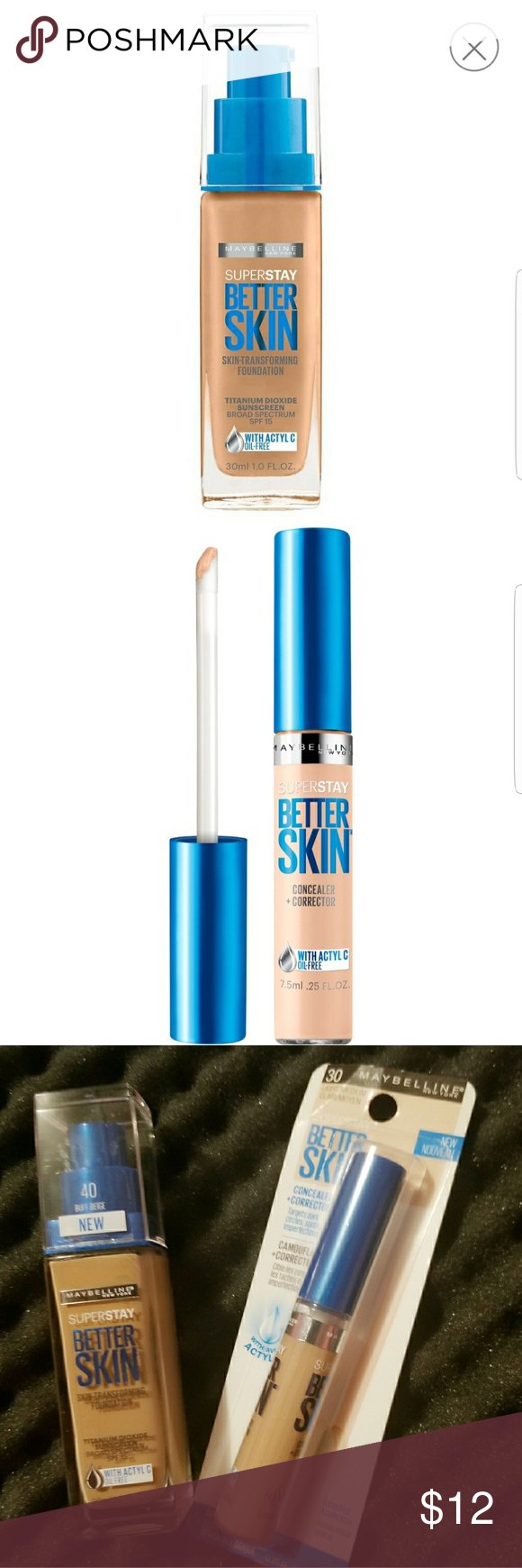 MAYBELLINE NEW YORK FOUNDATION + CONCEALER/CORRECT
