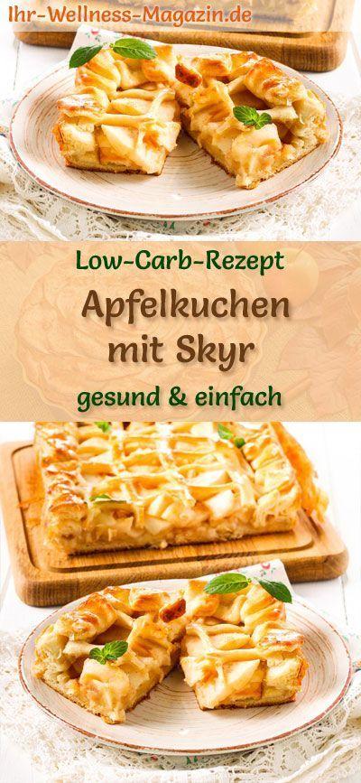 Low-Carb-Apfelkuchen mit Skyr - Rezept ohne Zucker #lowcarbmeals