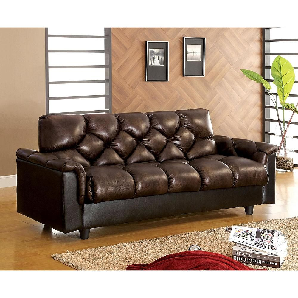 Worldwide BOWIE Futon Sofa w/ Underseat Storage