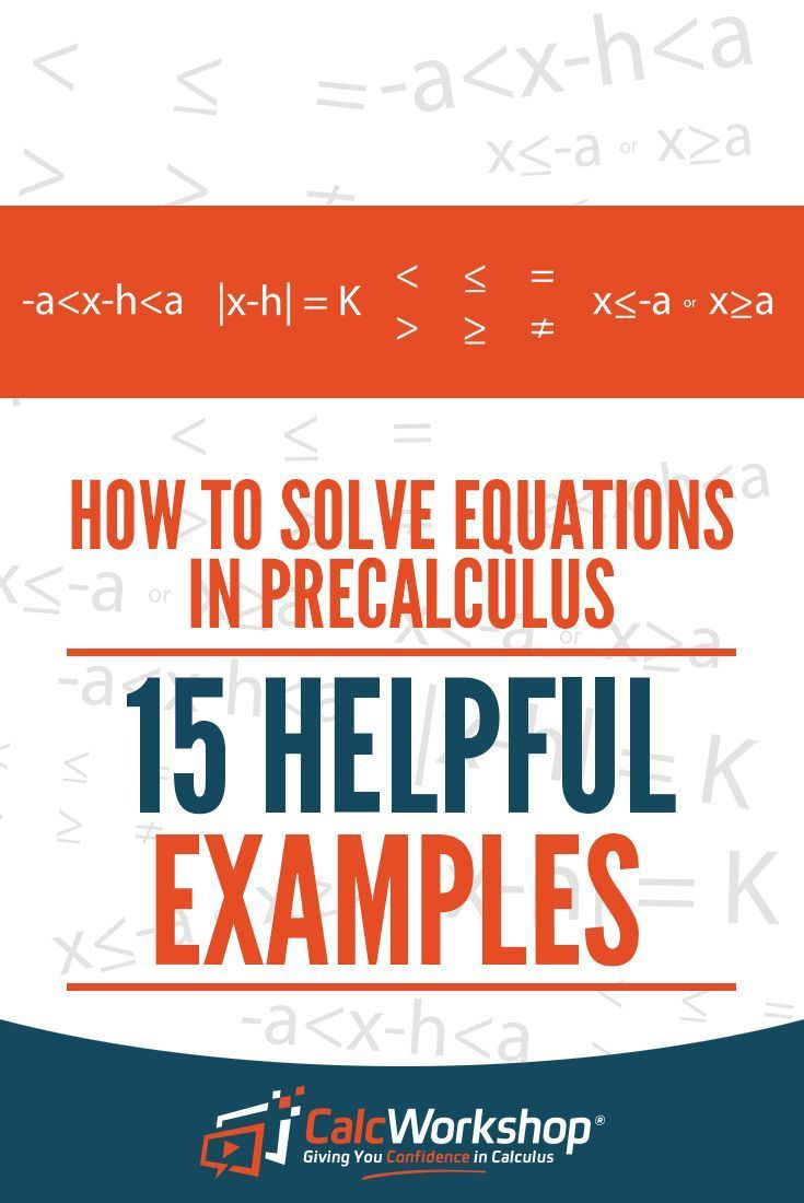 How to solve equations in precalculus 15 amazing