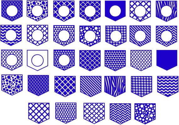 Pocket Shirt Monogram Pocket Svg Frames Patterned Pocket Monogram Designs Svg Dxf Ai Eps Png Pocket In 2021 Scrapbook Frames Monogrammed Pocket Monogram Design