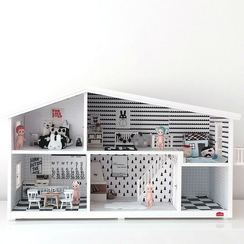 Love this ultra mod doll house (in an ultra mod playroom) for my baby girl...but also I'll take a real one for me. ;)