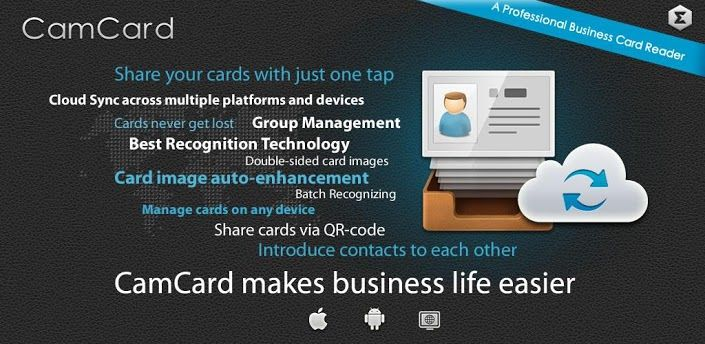 CamCard Business Card Reader V32020121203 Apk Requirements Android 21 Overview Useful