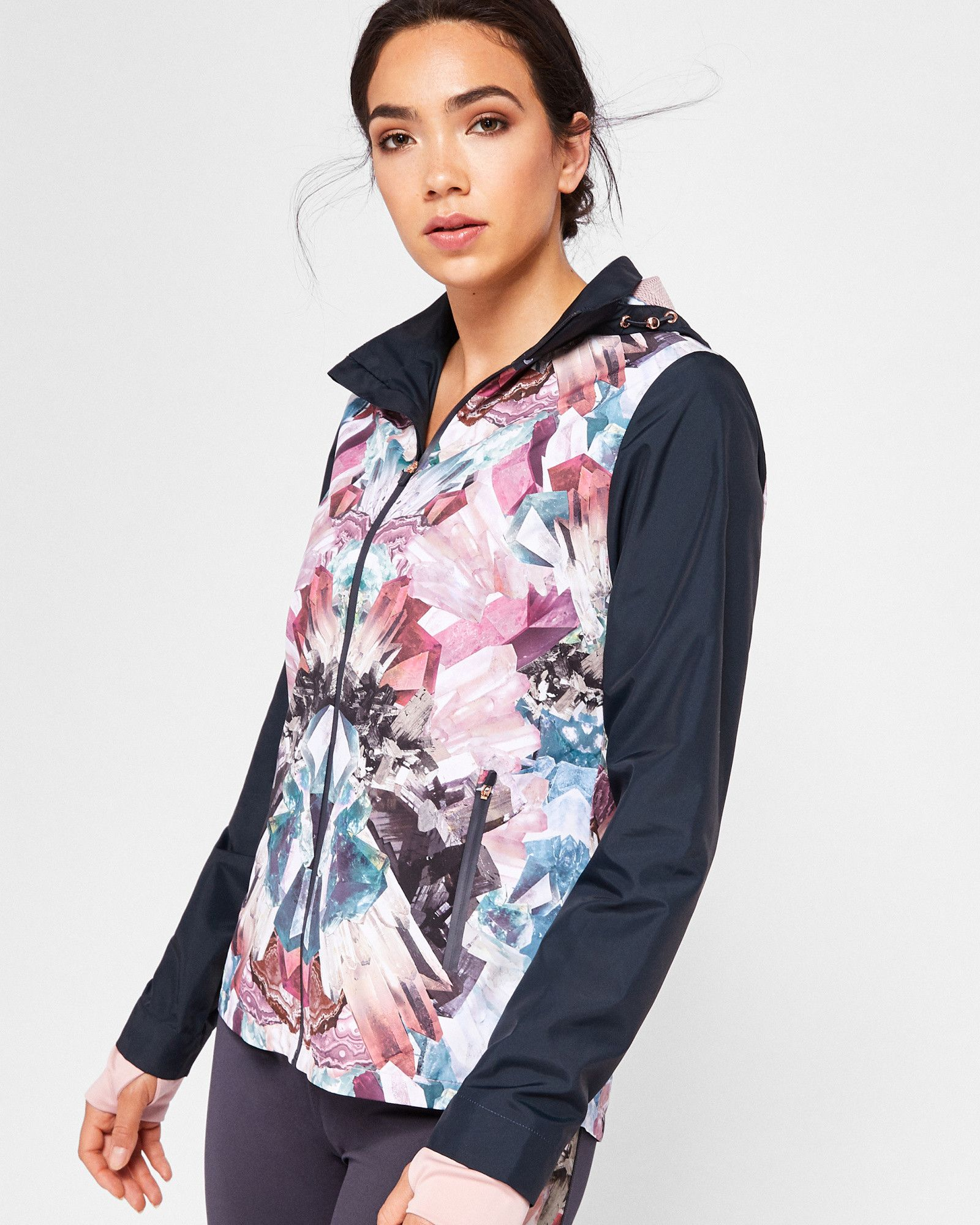 fe6240275e39 Ted Baker Mirrored Minerals shower-proof jacket Mid Grey | Products ...