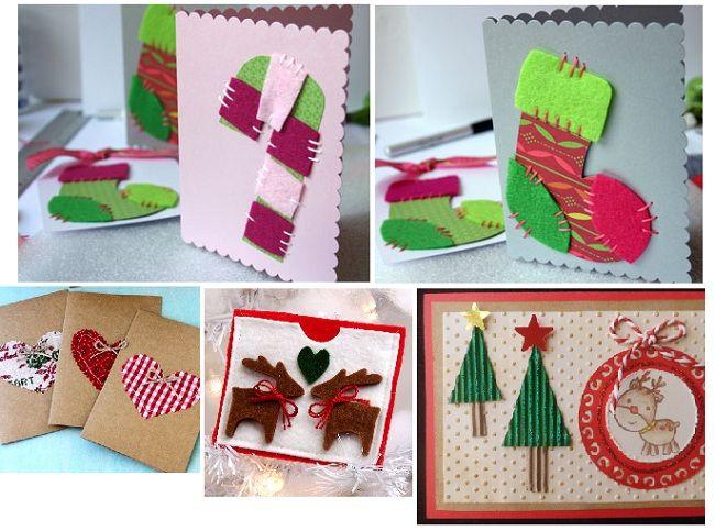 Postales navidad hechas a mano originales manualidades diy - Tarjeta de navidad manualidades ...