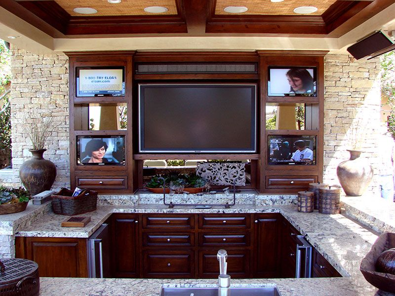 Good Many Of Todayu0027s Backyard Entertainment Areas Feature Built In Televisions.  AMS Landscape Design Studios Newport Beach, CA