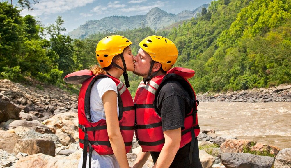 If you are tired of the same old dinner and a movie for your date -- take them on a white water rafting experience.
