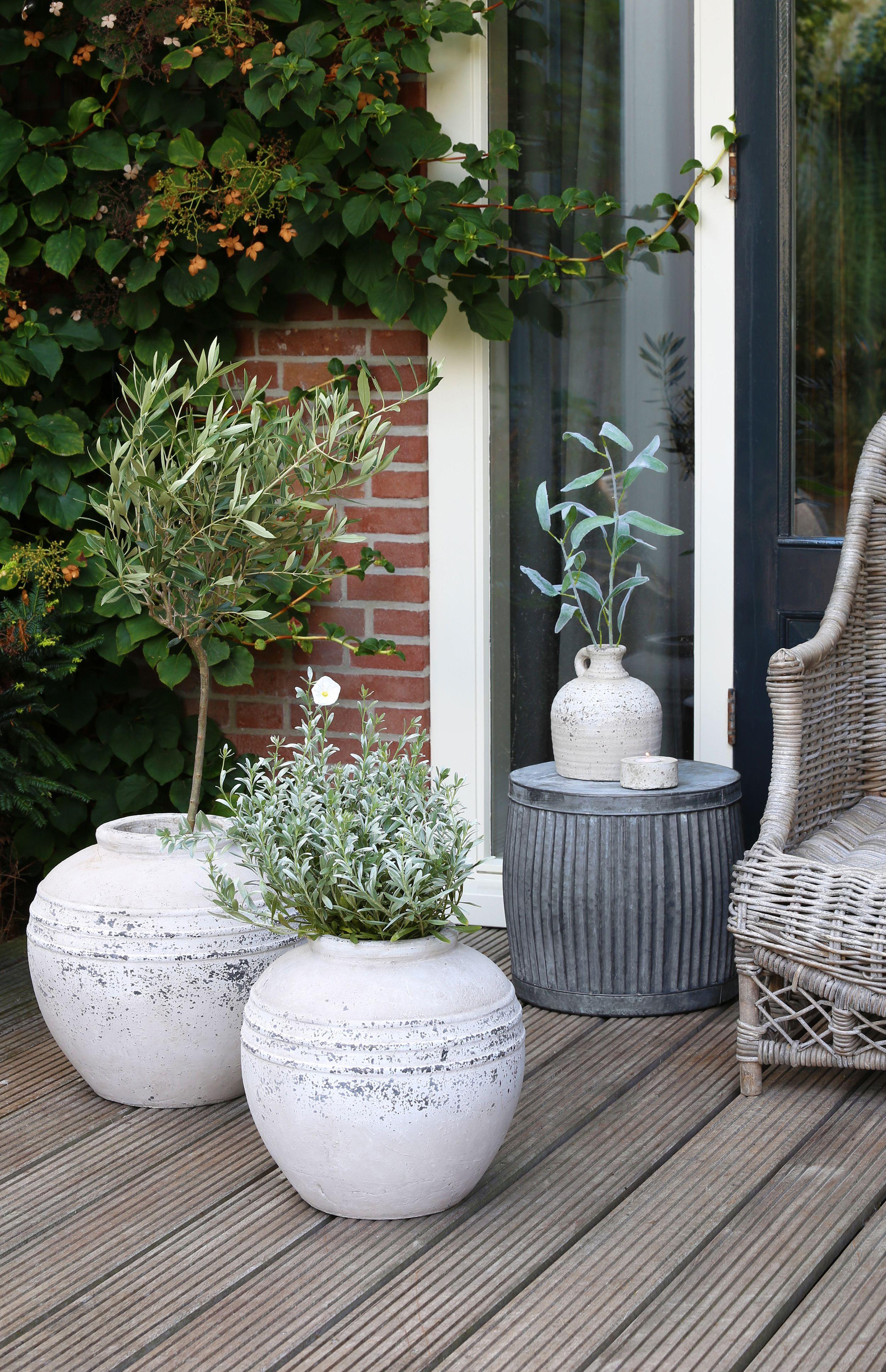 deco buiten bloempot vaas vazen landelijk kruik decoratie