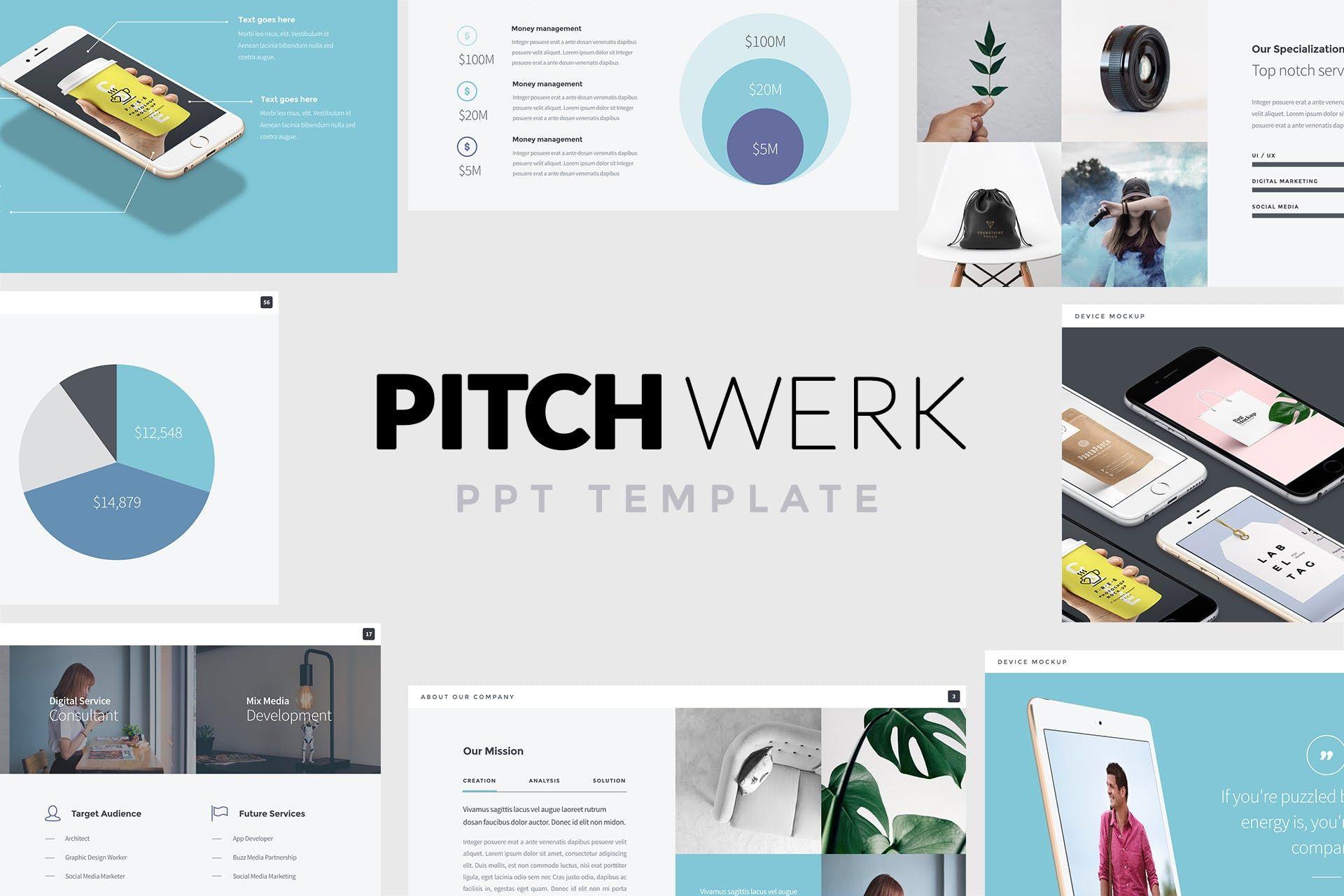 Pitch Werk Elegant Powerpoint Pitch Deck By Slidehack On Envato Elements Presentation Templates Powerpoint Templates Pitch