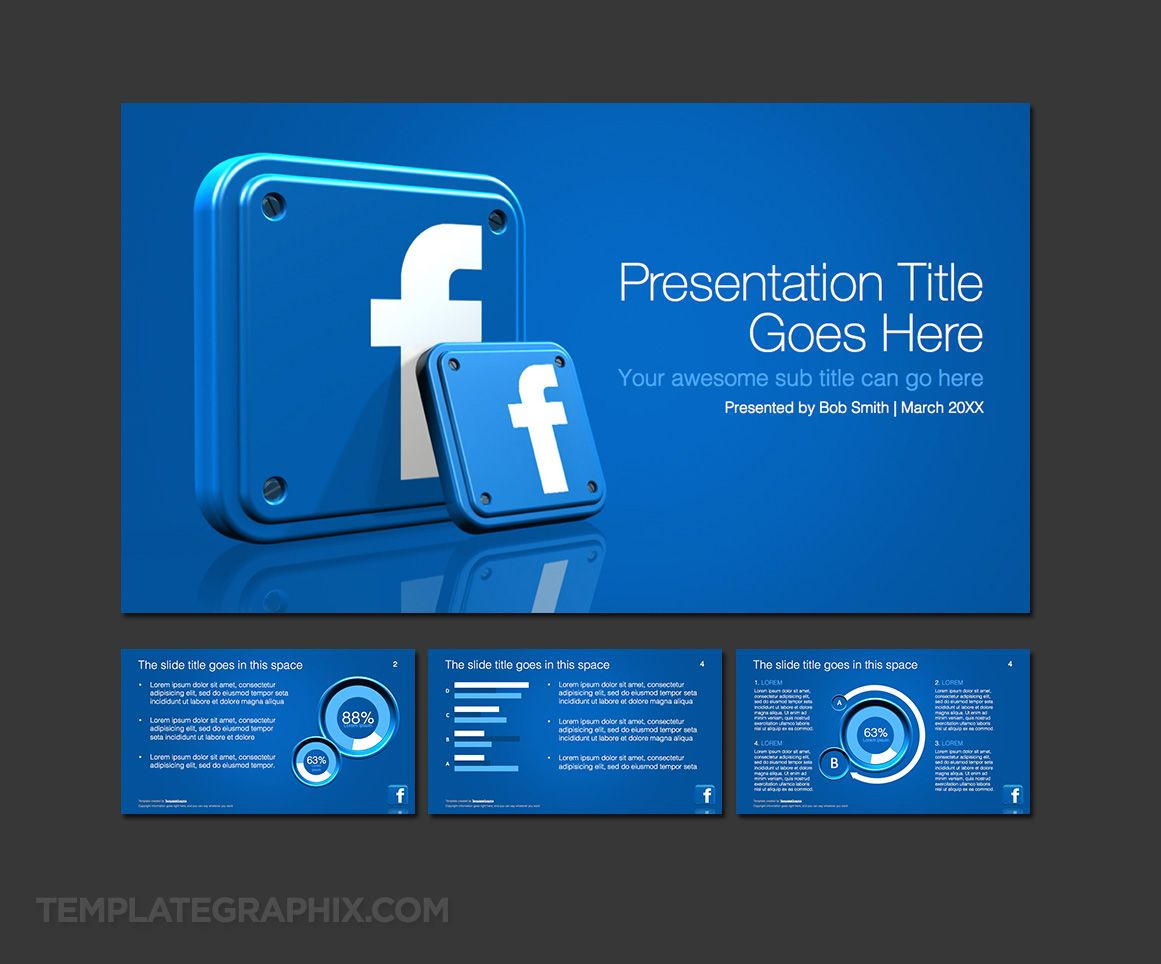 Facebook Template Powerpoint  Powerpoint Template