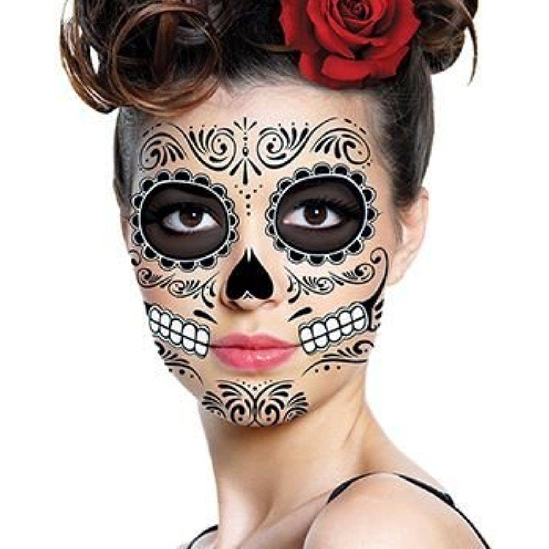 Traditional Sugar Skull Temporary Tattoo by TattooFun