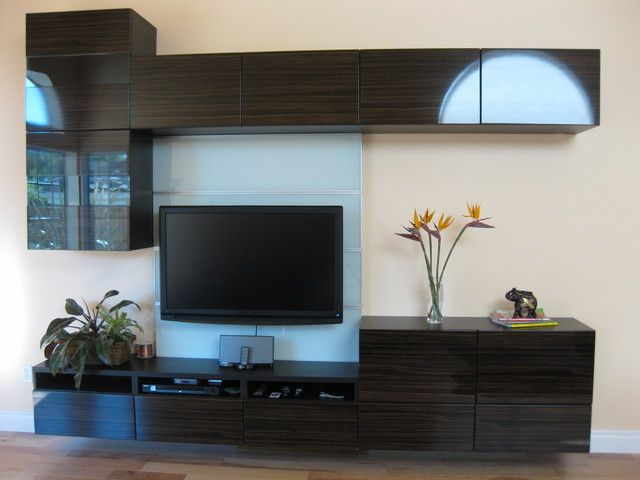 My new floating wall unit modern living room - Ikea besta wall ...