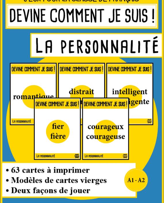 Mondolinguo Devine Personnalite Enseignement Du Francais Fle Les Sentiments