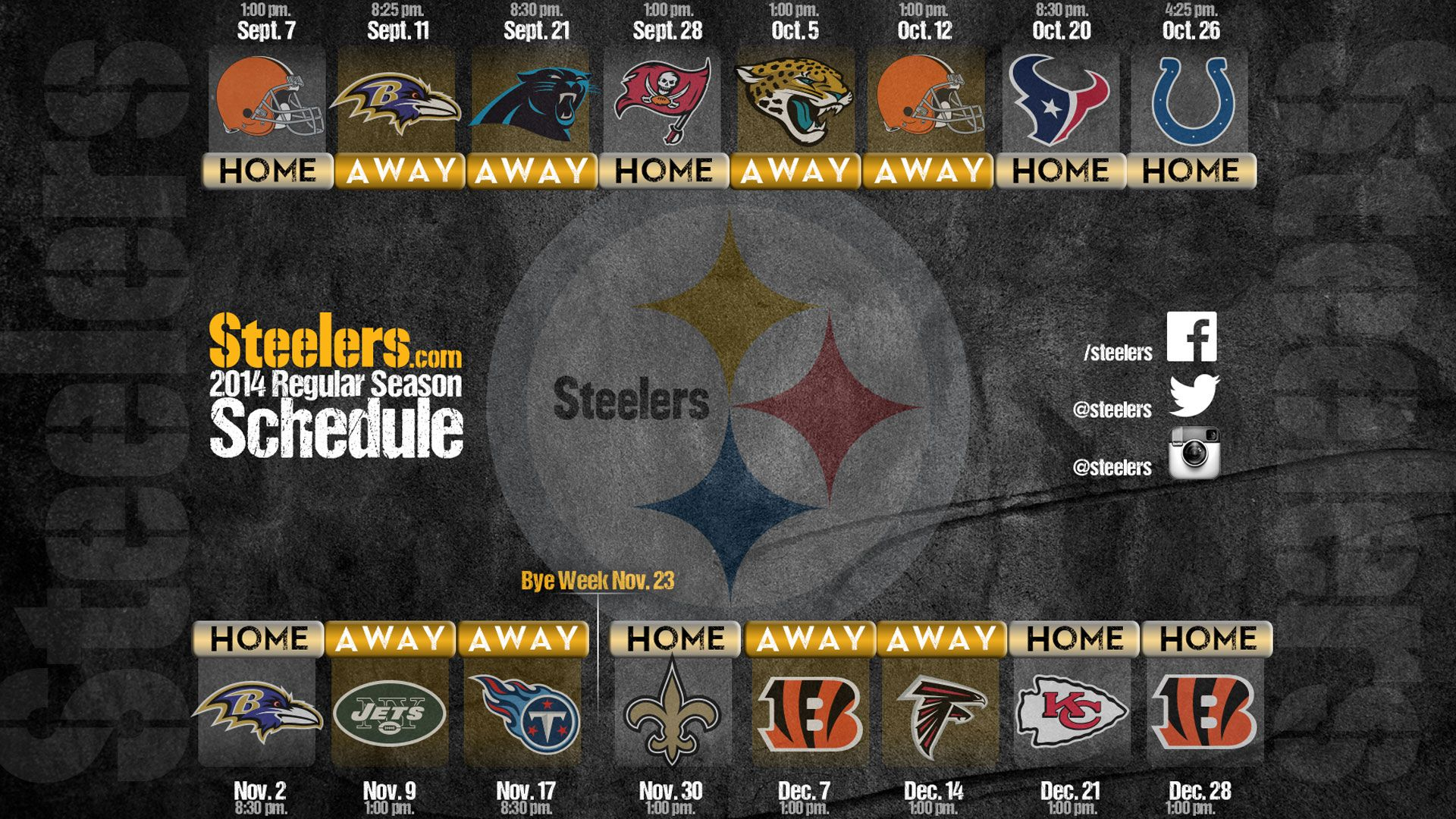 Get The Steelers Schedule On All Your Devices