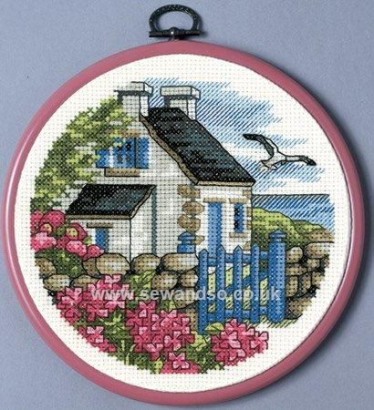 Shop online for Seaside Cottage with Frame Cross Stitch Kit at ...