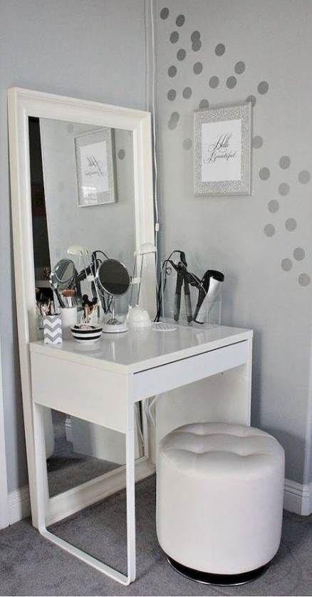 56 Ideas Diy Makeup Vanity Table Small Spaces Make Up Diy Makeup Vanity Table Bedroom Vanity Room Ideas Bedroom