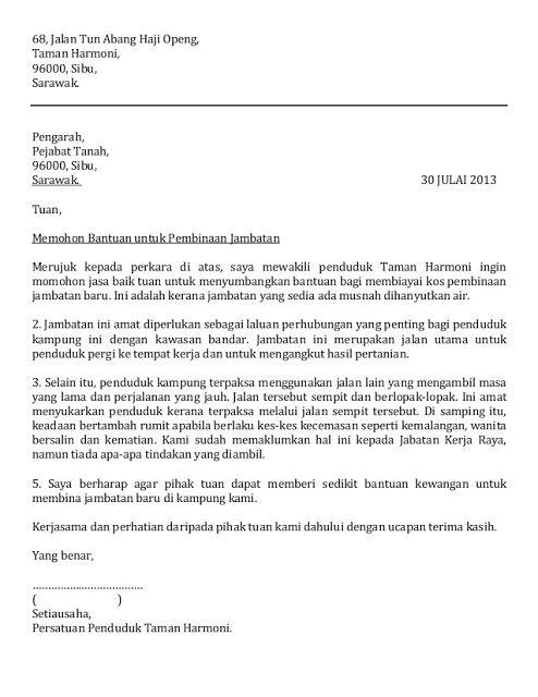 surat rasmi rayuan