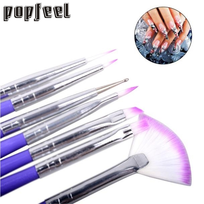 106 Watch Now Luxury 7 Nail Art Design Brushes Set Painting Pen