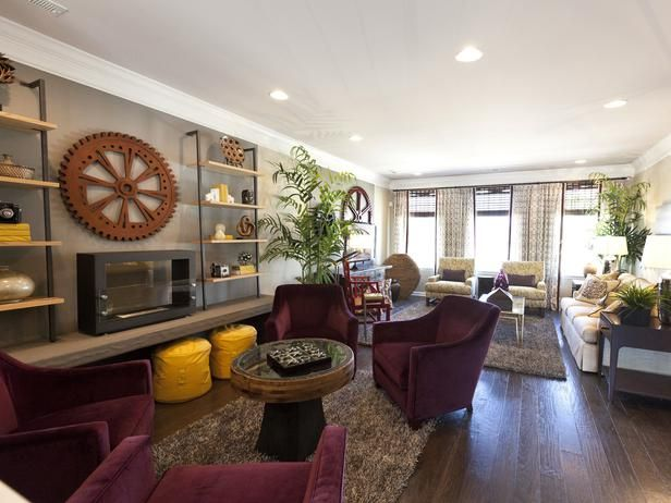 7 Furniture Arrangement Tips  Hgtv Ottomans And Layouts Alluring Long Living Room Dining Room Layout Review