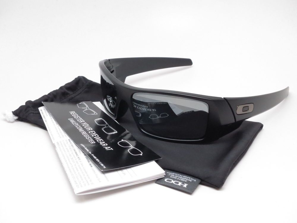48f4f9ea2db0 Oakley Gascan Sunglasses Brand : Oakley Model Number : 12-856 Model Name : Gascan  Frame Color : Matte Black Lens Color : Black Iridium Polarized?