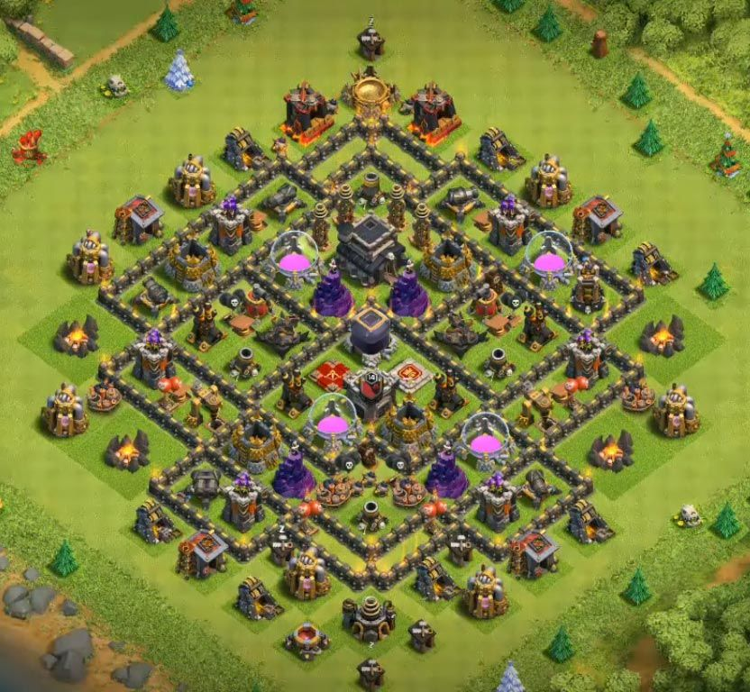 Anti Everything Coc Th9 Farming Base 4