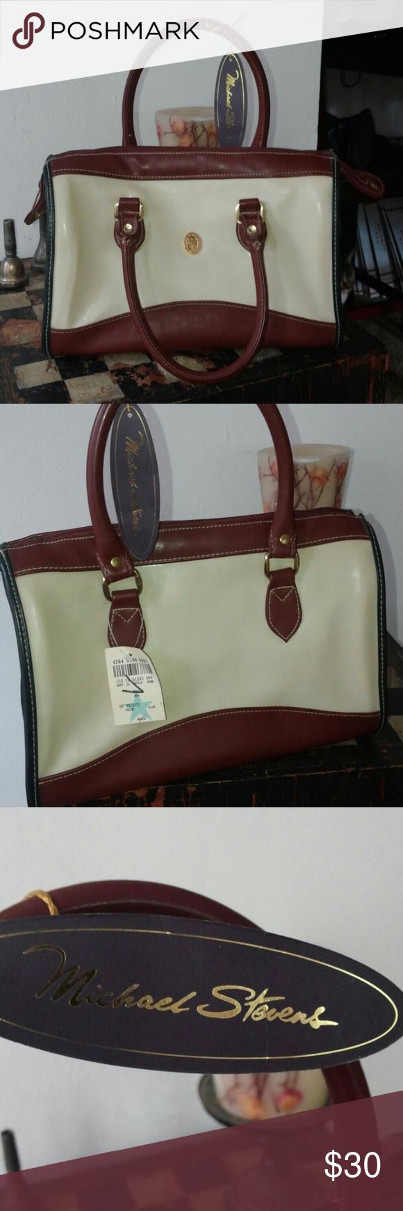 Vintage Michael Stevens Bag Beautiful, brand new bag. Couple unnoticeable shallow punture holes in shoulder strap, shown in last picture. Vintage Bags Crossbody Bags