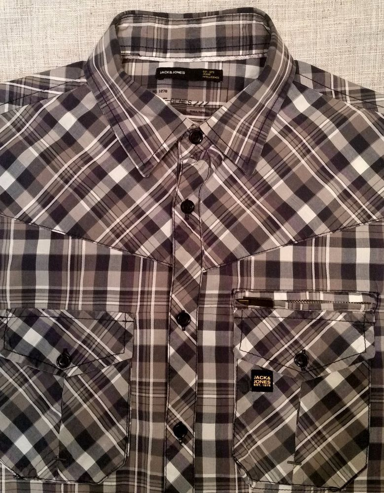 Men's JACK & JONES button down casual shirt sz M #JACKJONES #DeltaShirt