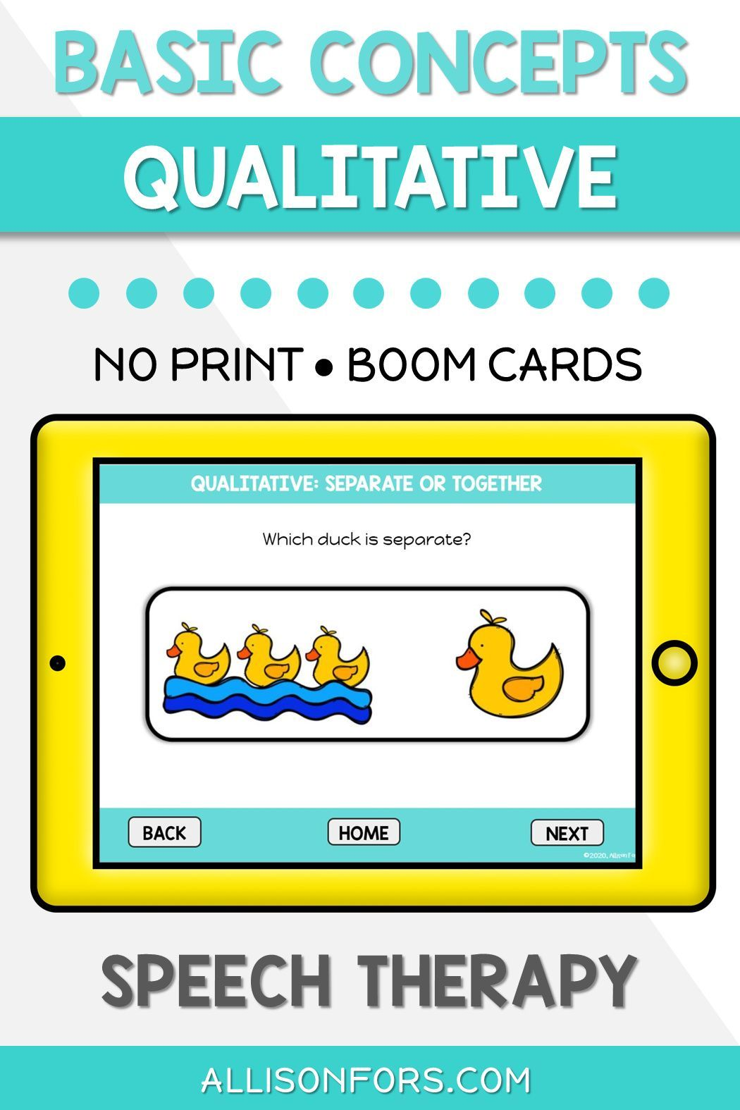 Qualitative Concepts Boom Cards Speech Therapy Distance Learning Basic Concepts Speech Therapy Speech Therapy Basic Concepts [ 1575 x 1050 Pixel ]
