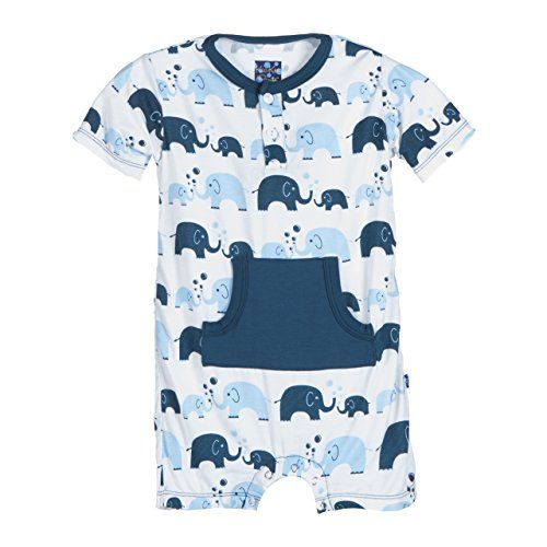 b4c6ac102 KicKee Pants Baby Boys Print Kangaroo Romper Prdkpkr944s16d2Bbe Boy Bubble  Elephant 1218 Months * Check out this great product.