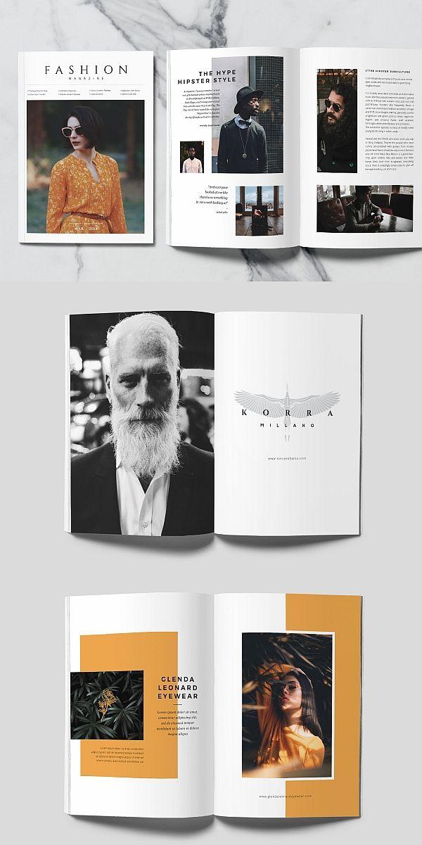fashion magazine drawing trees magazine design