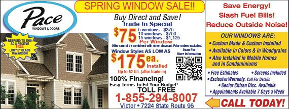 Pace Windows And Doors Rochester Ny Specials Coupons