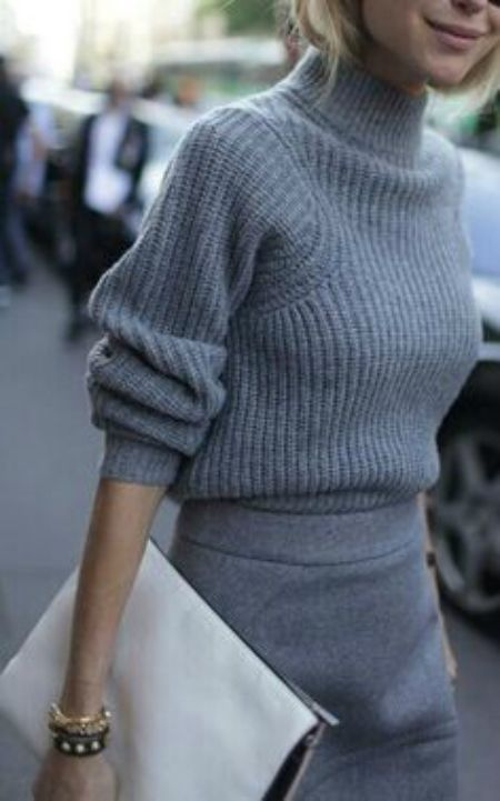15 Stilvolle Möglichkeiten, einen Grobstrickpullover zu tragen - Mode Tipps #chunkyknitjumper