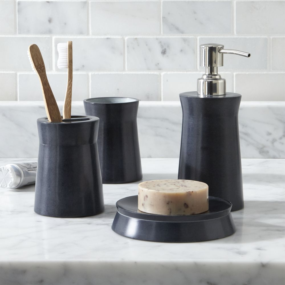 Set Of 4 forma Accessories Crate and Barrel Porcelain